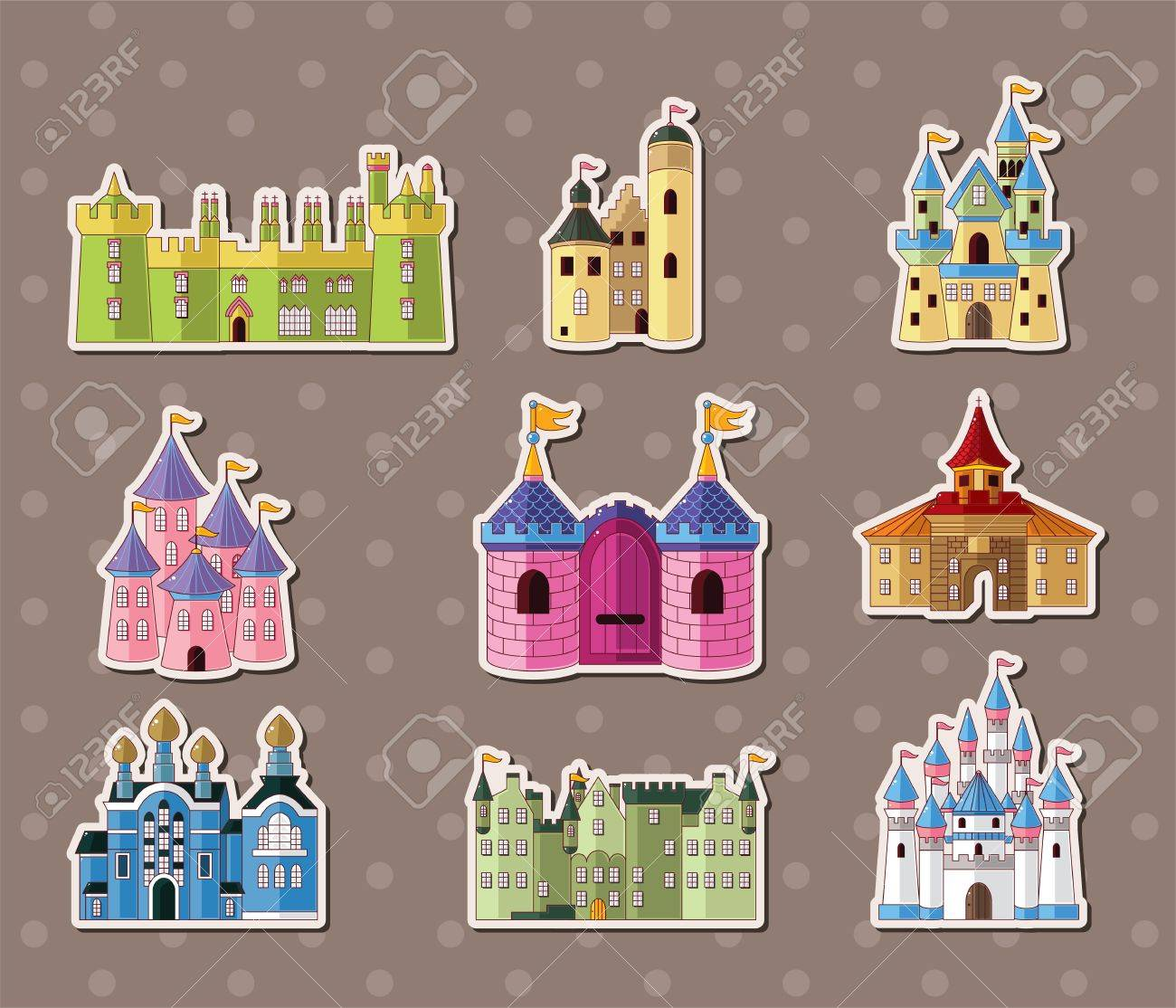 castle stickers Stock Vector - 15324969