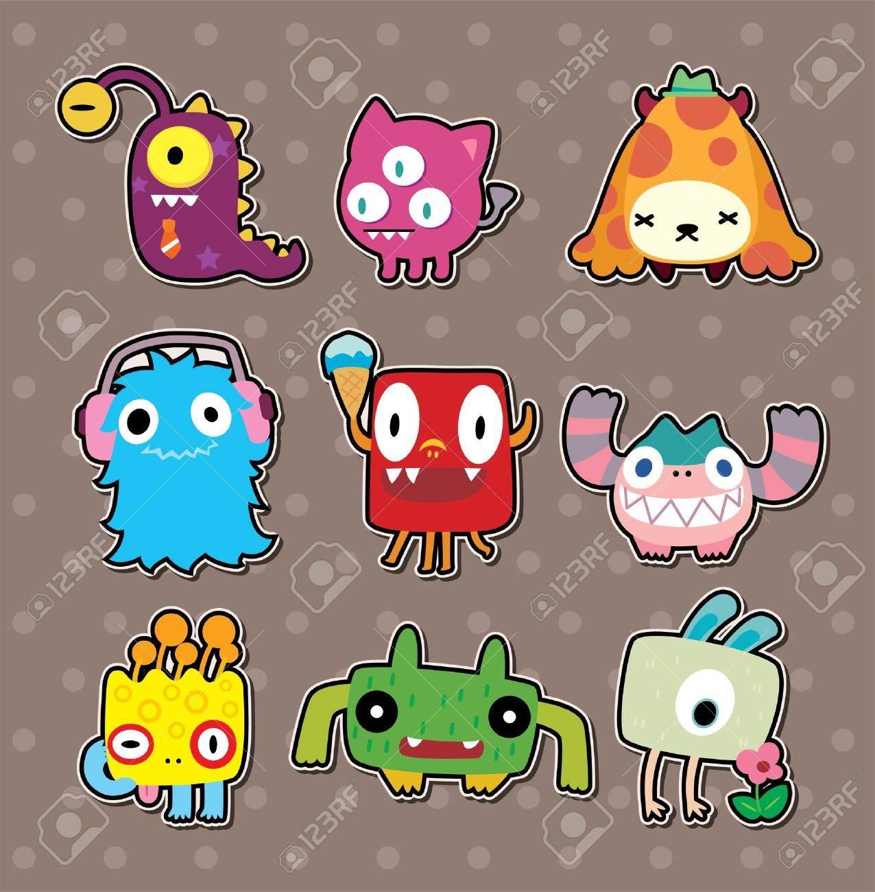 monster stickers Stock Vector - 15826415