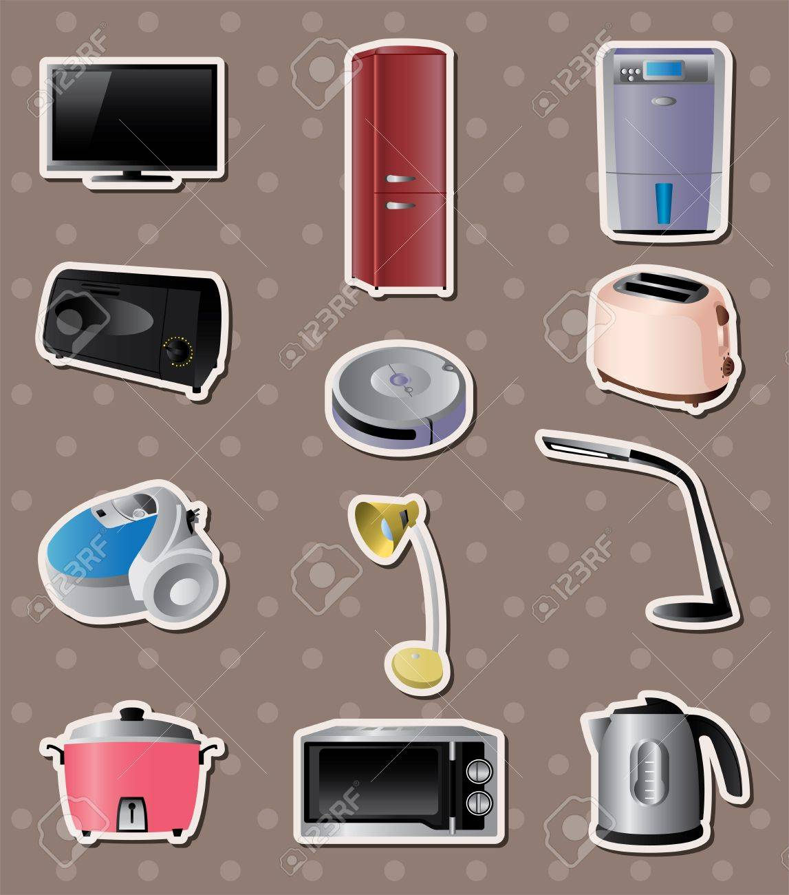 home appliances stickers Stock Vector - 16059884