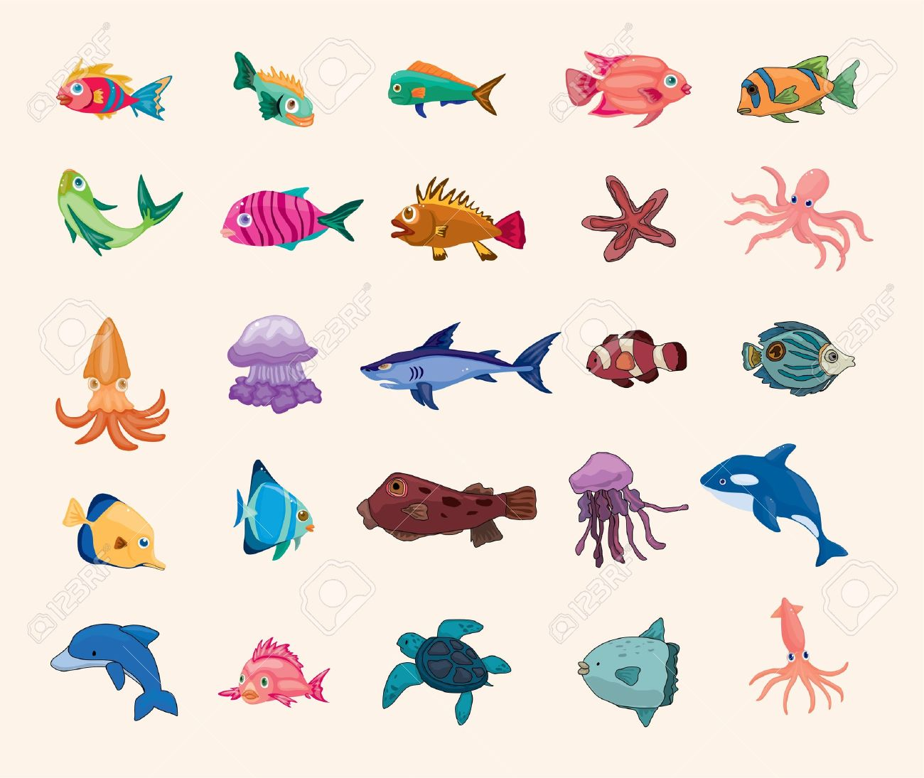 cartoon fish icon Stock Vector - 16320627