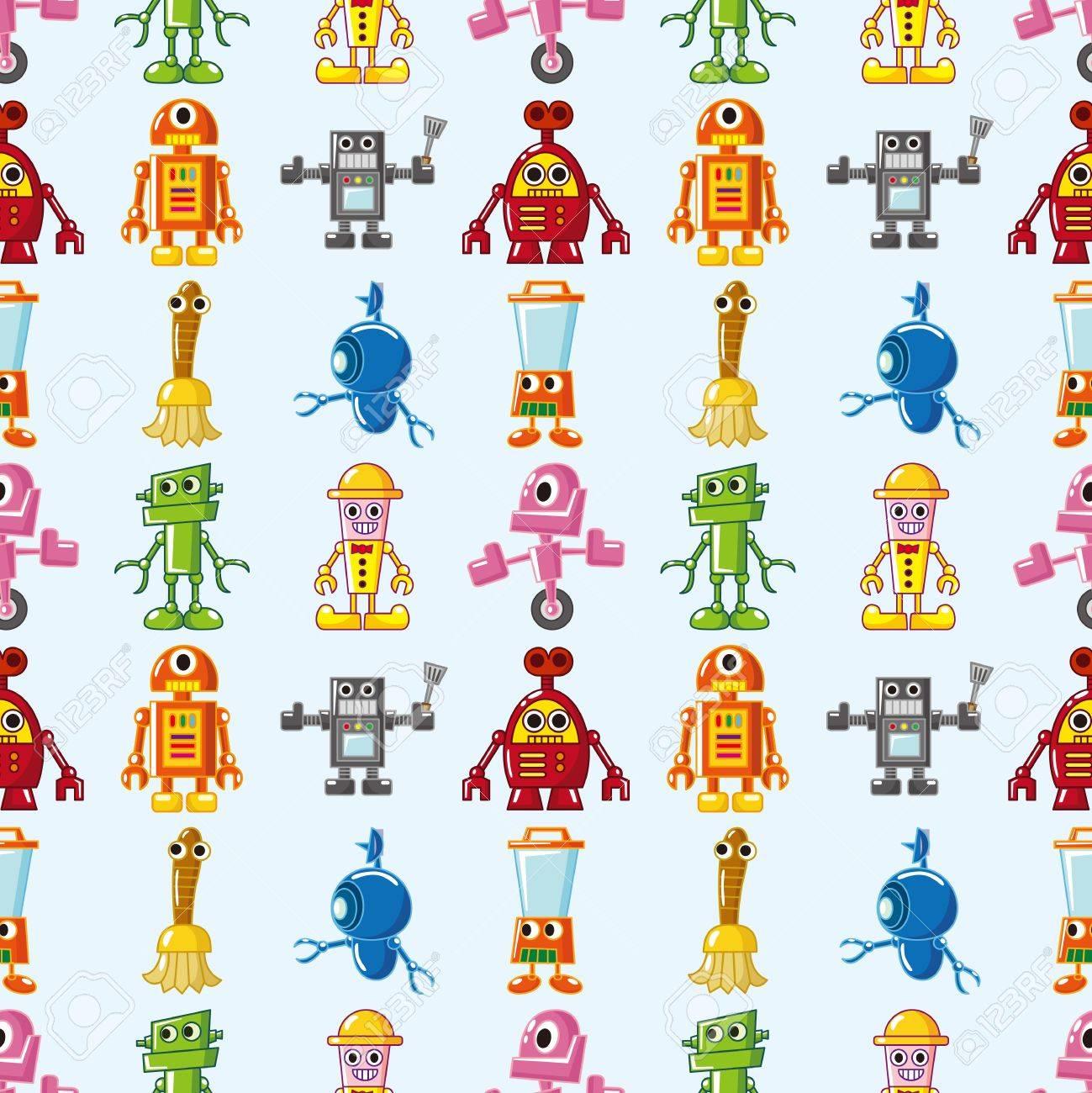 seamless Robot pattern Stock Vector - 16503973