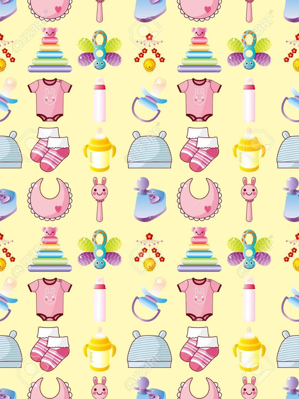 seamless baby thing pattern,cartoon vector illustration Stock Vector - 17033059