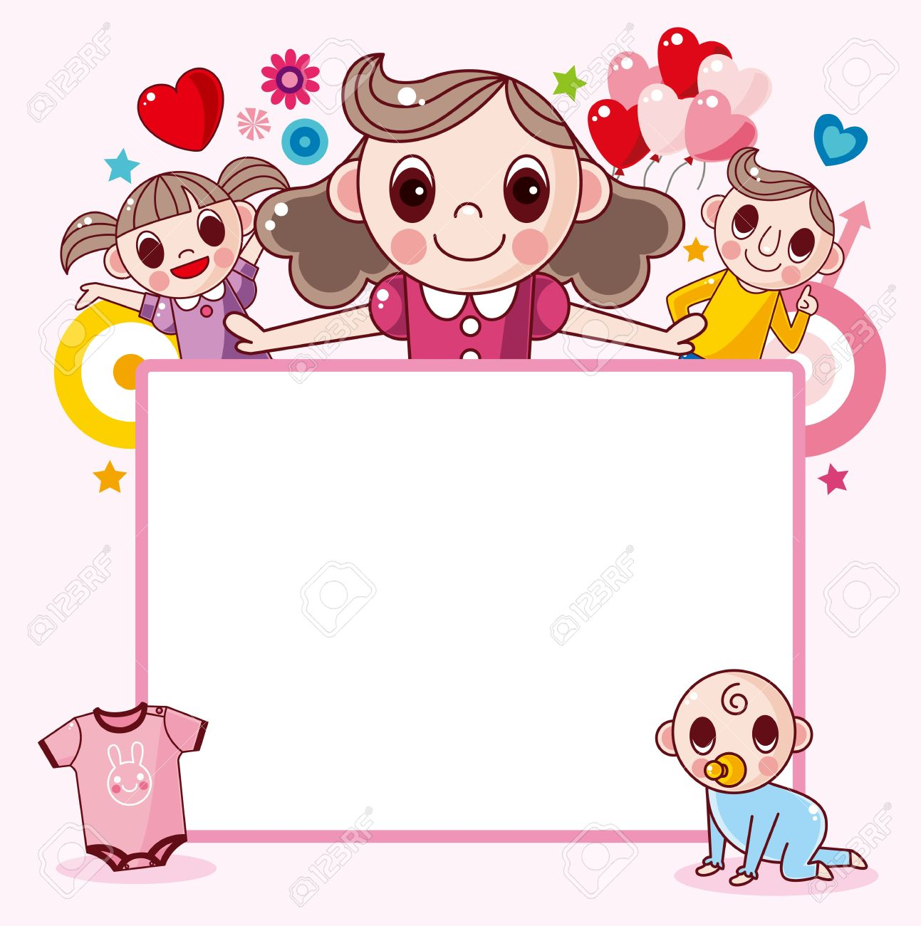 Happy Family Frame Royalty Free Cliparts Vectors And Stock White Picture Clipart