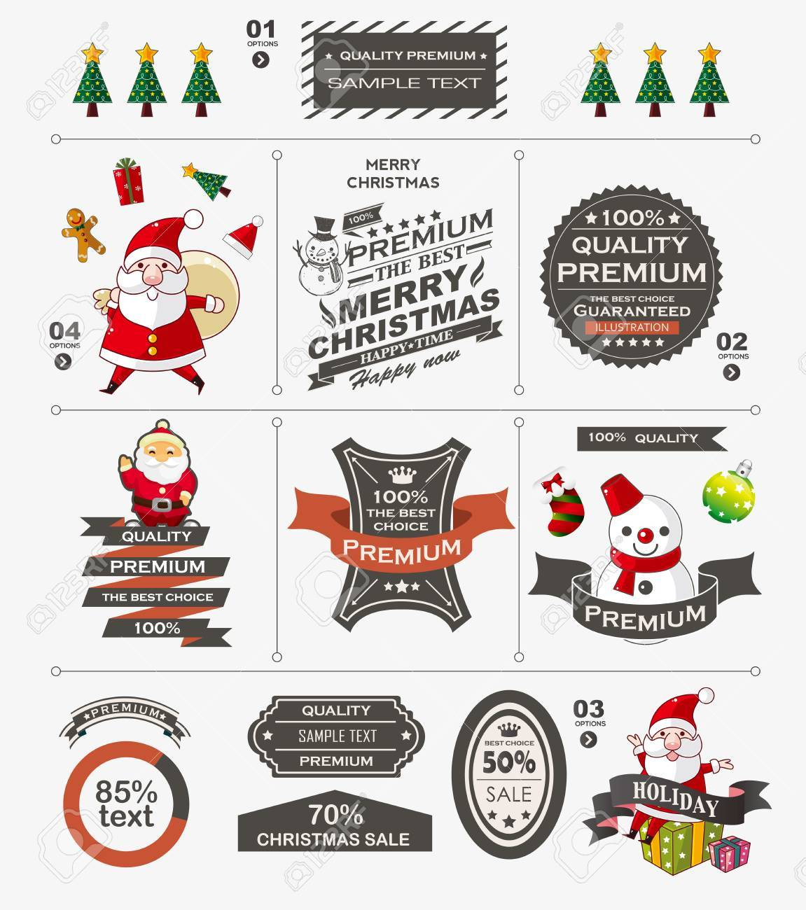 Christmas vintage banner Stock Vector - 22772265
