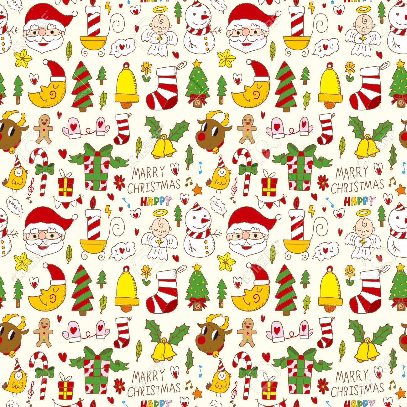 seamless Christmas pattern background Stock Vector - 22772321