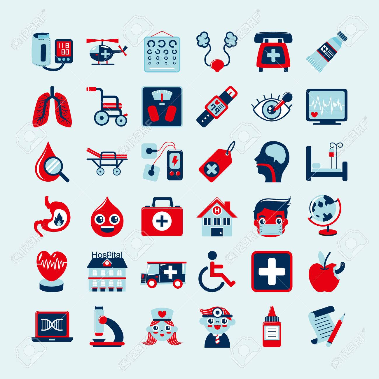 Medical icons set, Stock Vector - 23202928