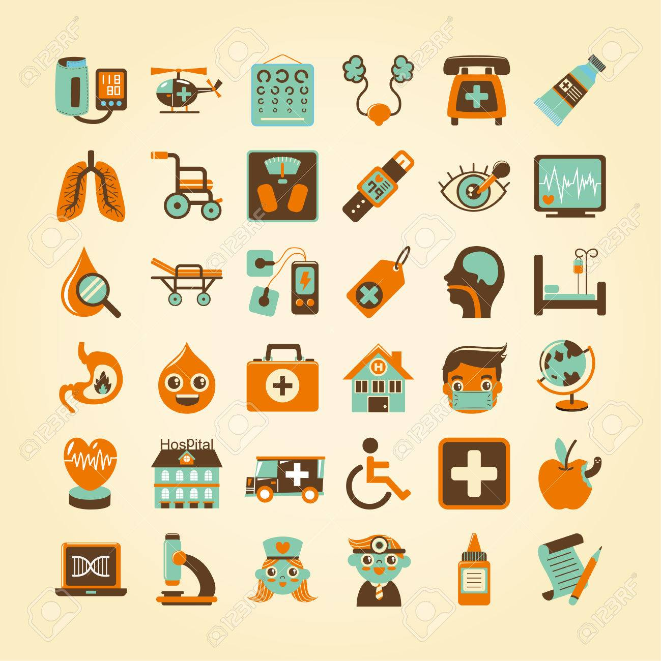 Medical icons set, Stock Vector - 23202930