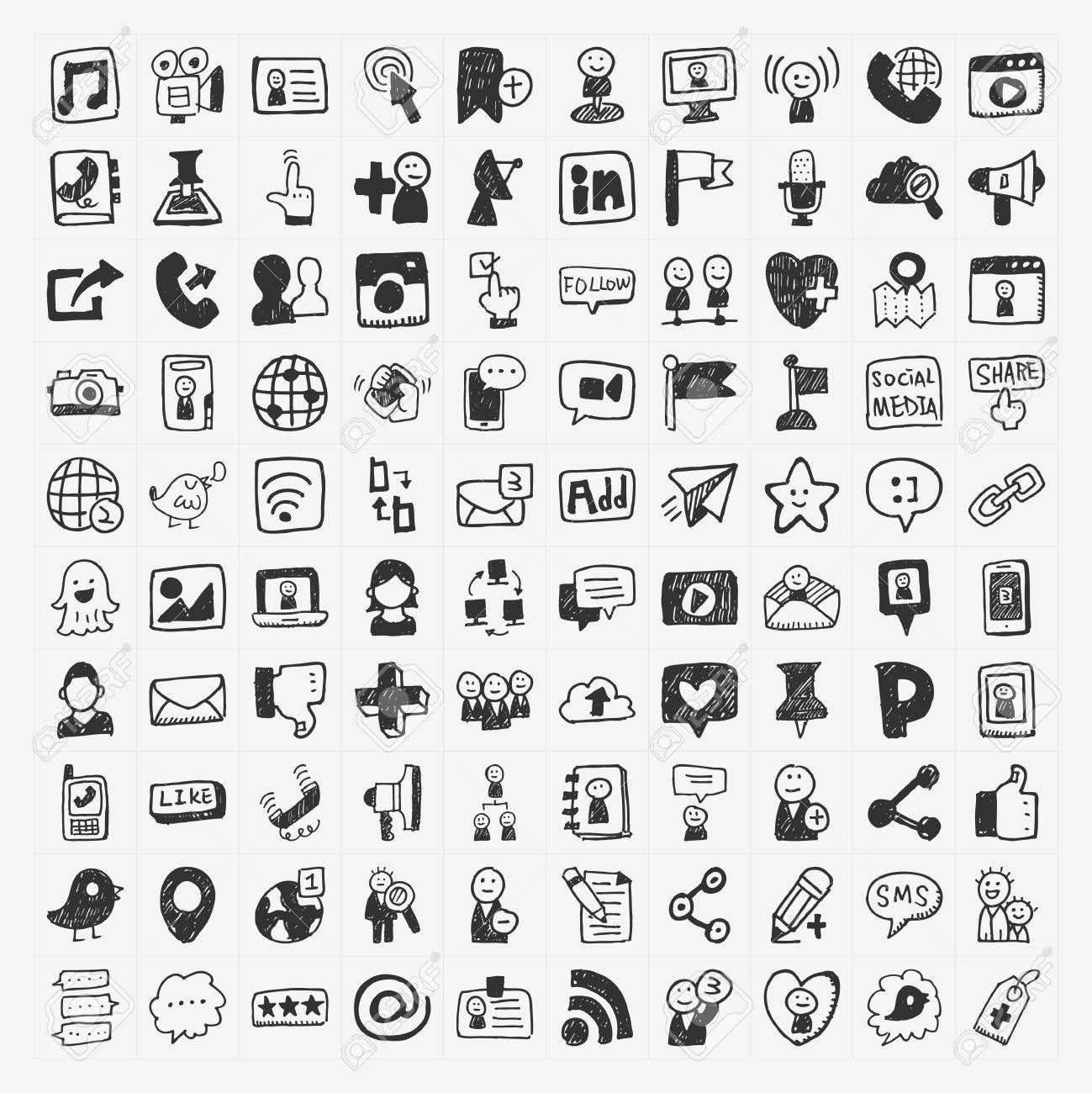 doodle Social media elements Stock Vector - 24391335