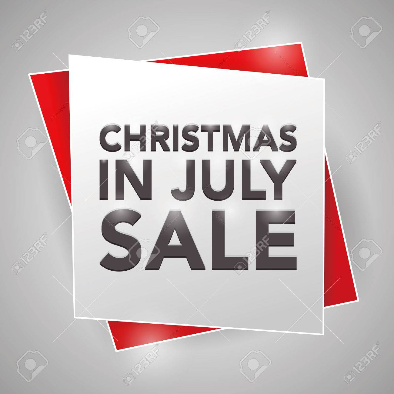 Christmas In July Royalty Free Images.Christmas In July Sale Poster Design Element