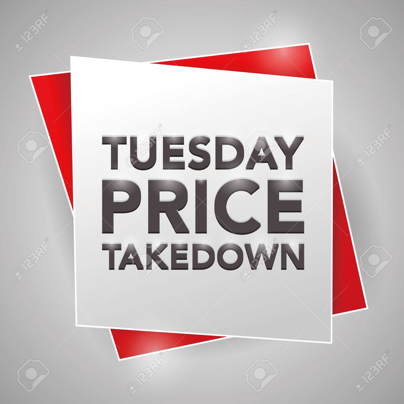 Price for a poster design - Tuesday Price Takedown Poster Design Element Stock Vector 44060709
