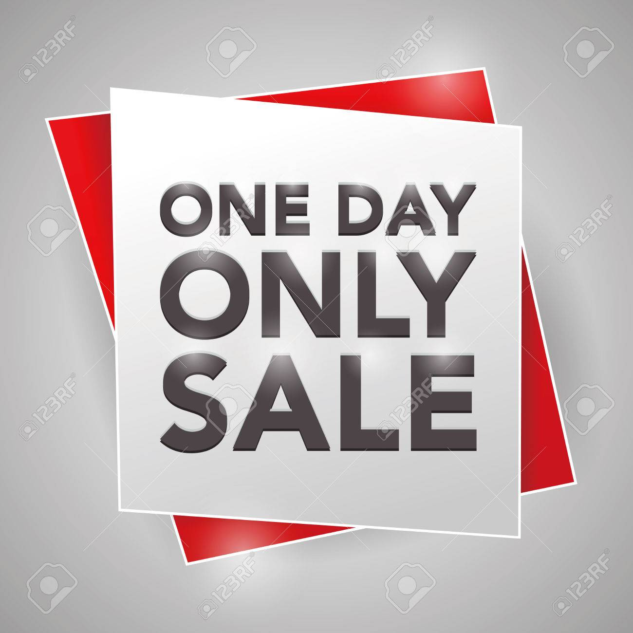 ONE DAY ONLY SALE , poster design element - 44060658