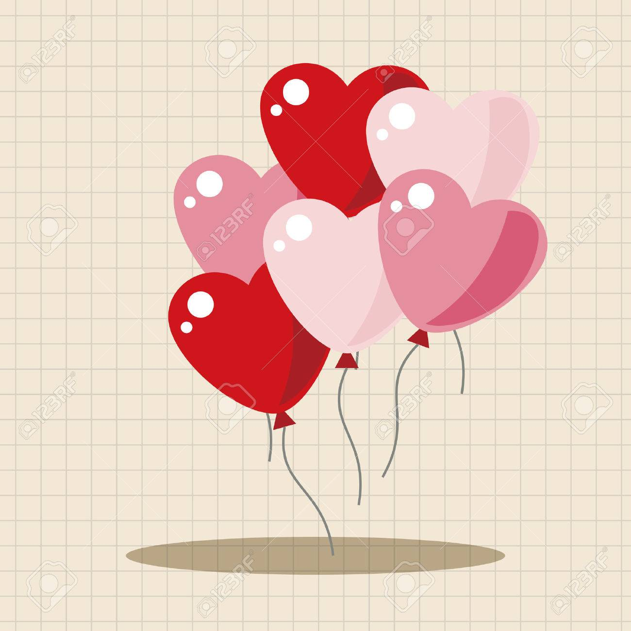 Valentine S Day Balloons Theme Elements Royalty Free Cliparts