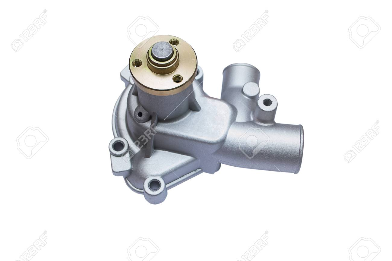 Water Pump Car >> Car Water Pump Of The Engine Cooling System On White