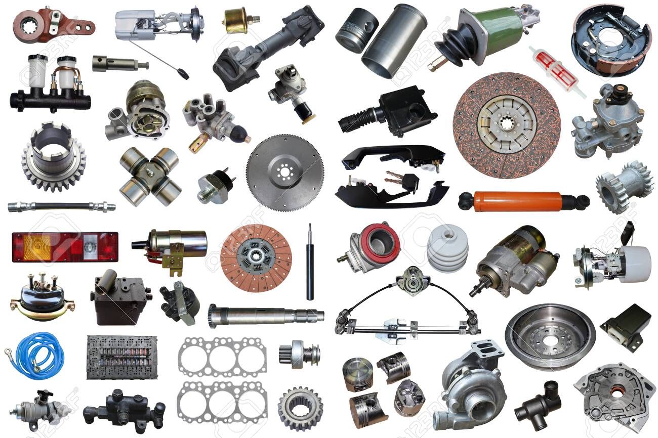 Auto Parts, Vehicle Parts, Car Accessories Isolated On A White Background. Stock Photo, Picture And Royalty Free Image. Image 140363200.