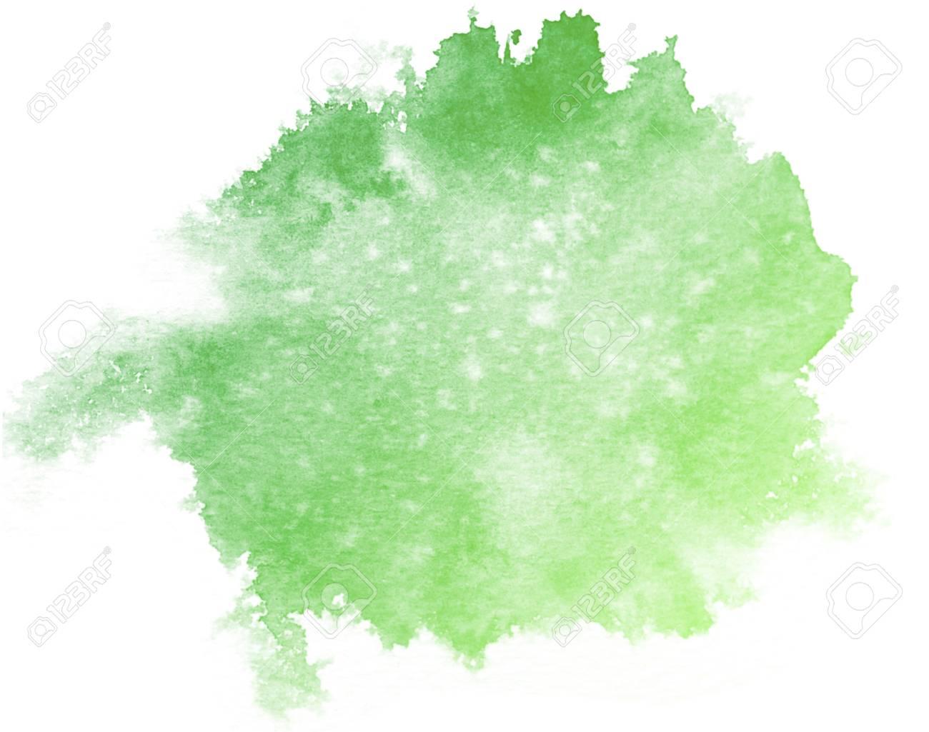 Immagini Stock Acquerello Astratto Verde Su Sfondo Bianco E Questo