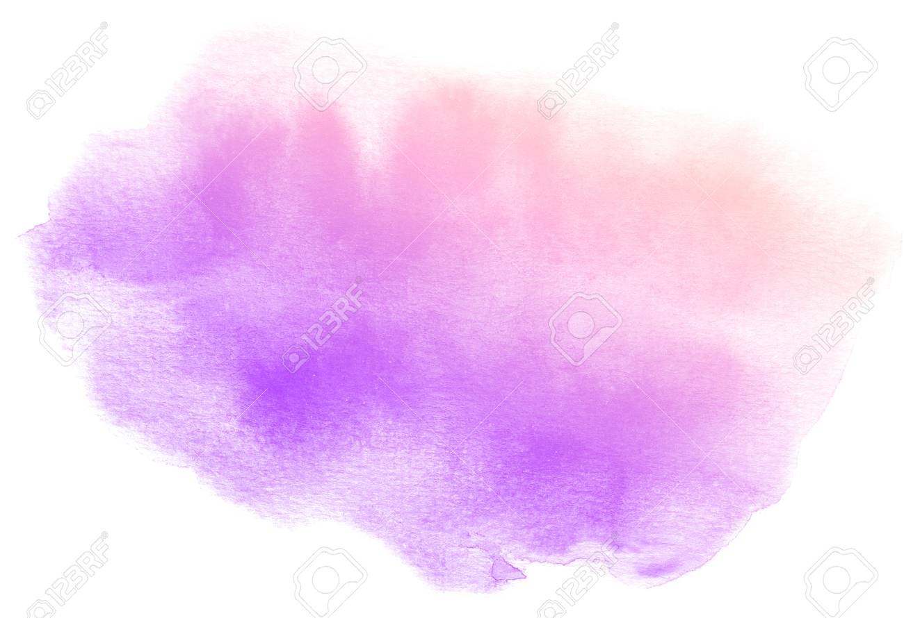 Abstract Purple Watercolor On White Background This Is Watercolor