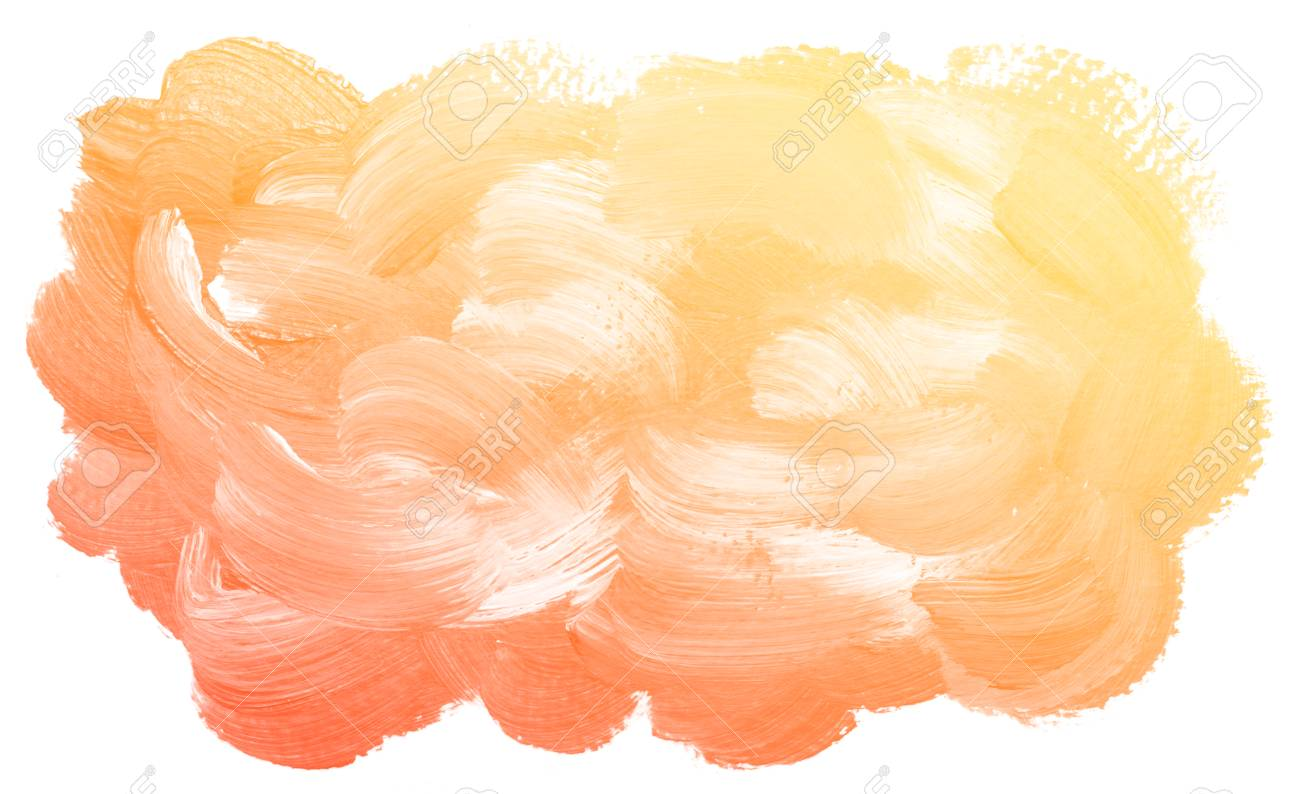 Abstract Orange Watercolor On White Background This Is Watercolor
