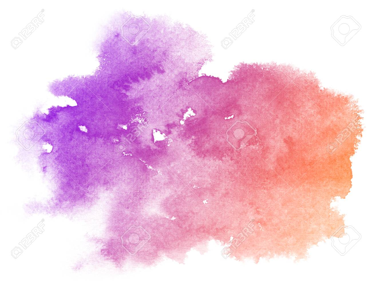 Abstract Purple Watercolor On White Background The Color Splashing
