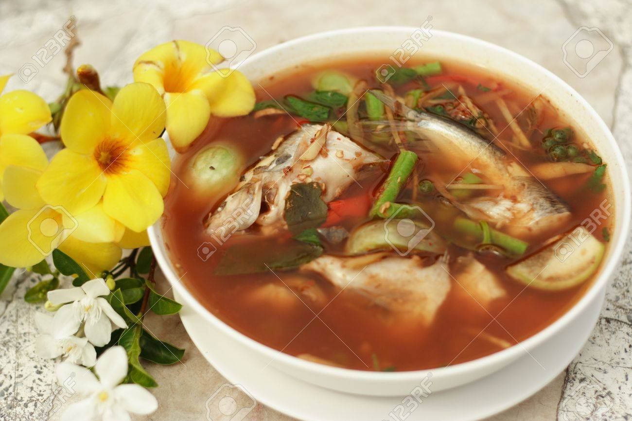 Fish in hot and sour soup Stock Photo - 14353408