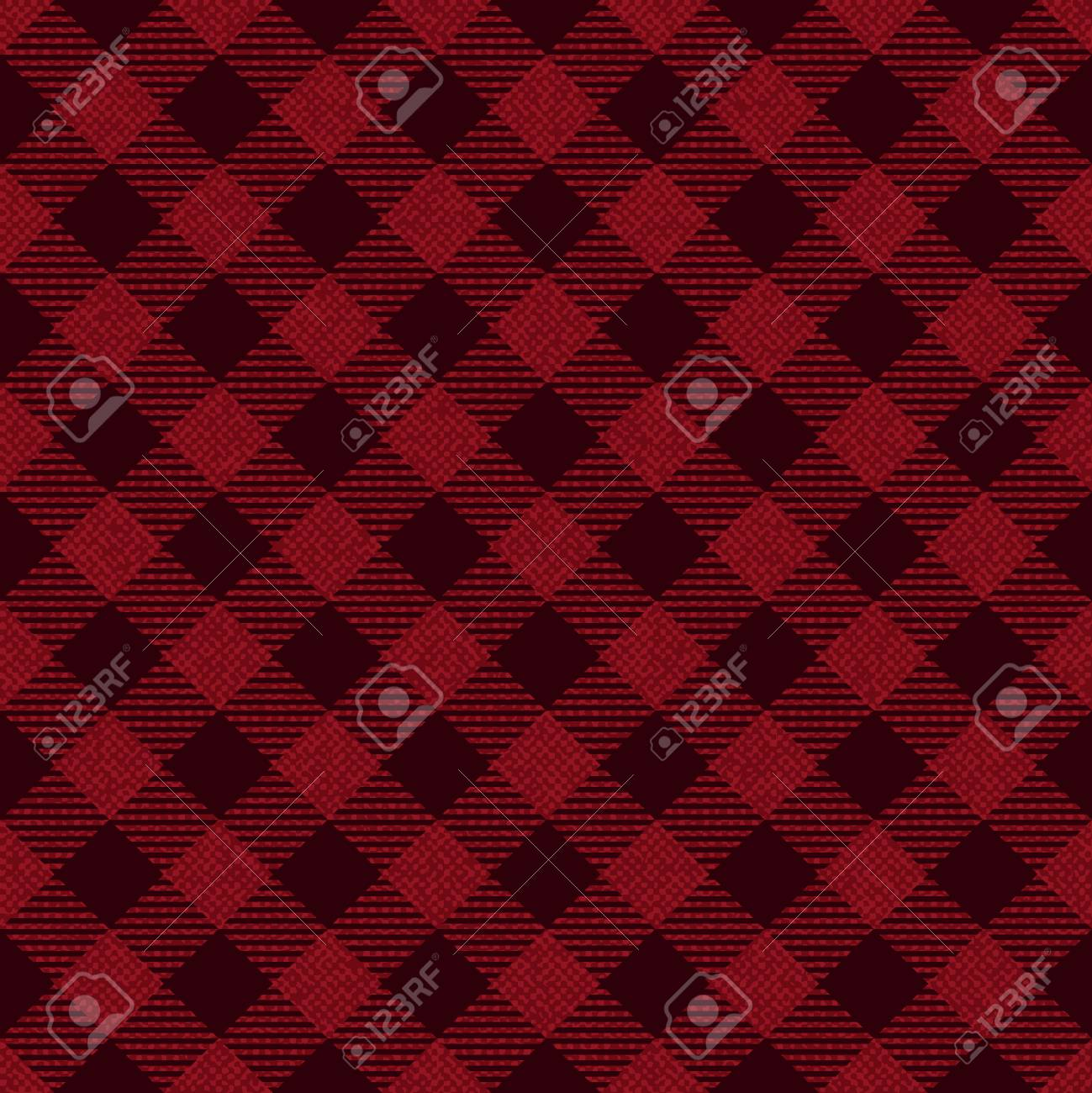 Red And Black Checkered Fabric Pattern Background Royalty Free