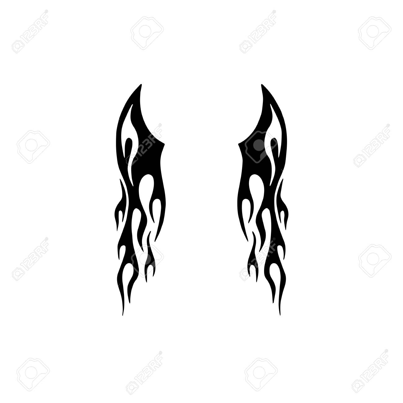Tribal Wing Tattoo Design Royalty Free Cliparts Vectors And Stock