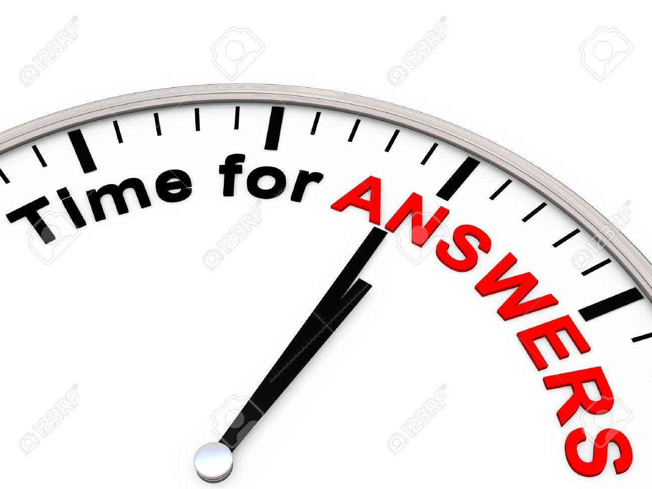 Time for answers on a clock Stock Photo - 8620351