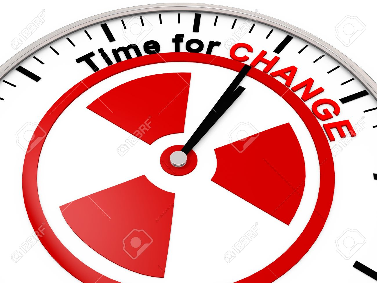 Time for Change on a Clock Stock Photo - 9309645