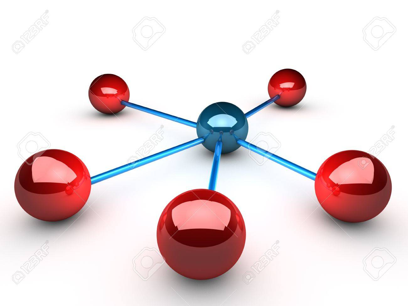 Network symbolized by connected spheres Stock Photo - 11190559
