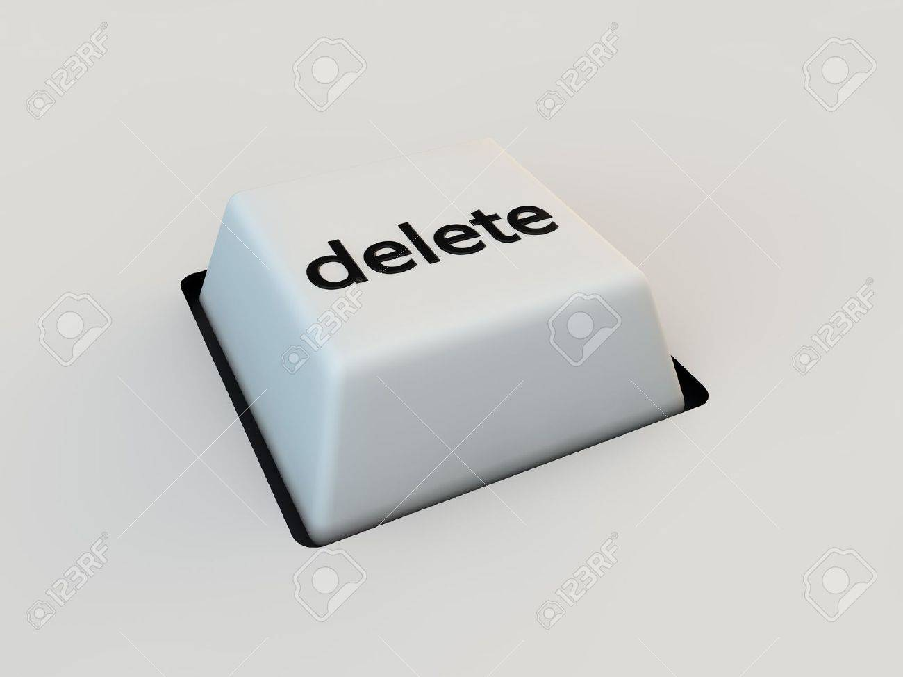 Delete Keyboard Button Over White Background Stock Photo, Picture ...