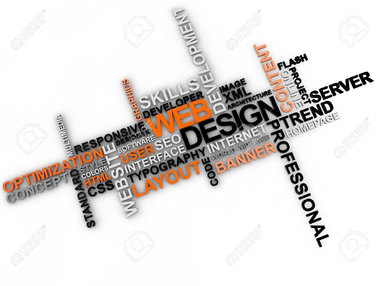 web design word cloud over white background Stock Photo - 19163638