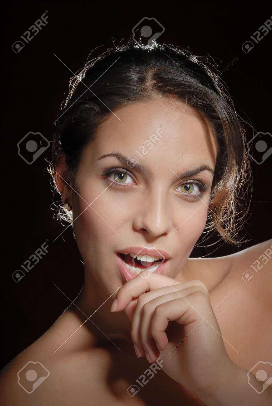 Portrait of the lady interested in something Stock Photo - 3719173