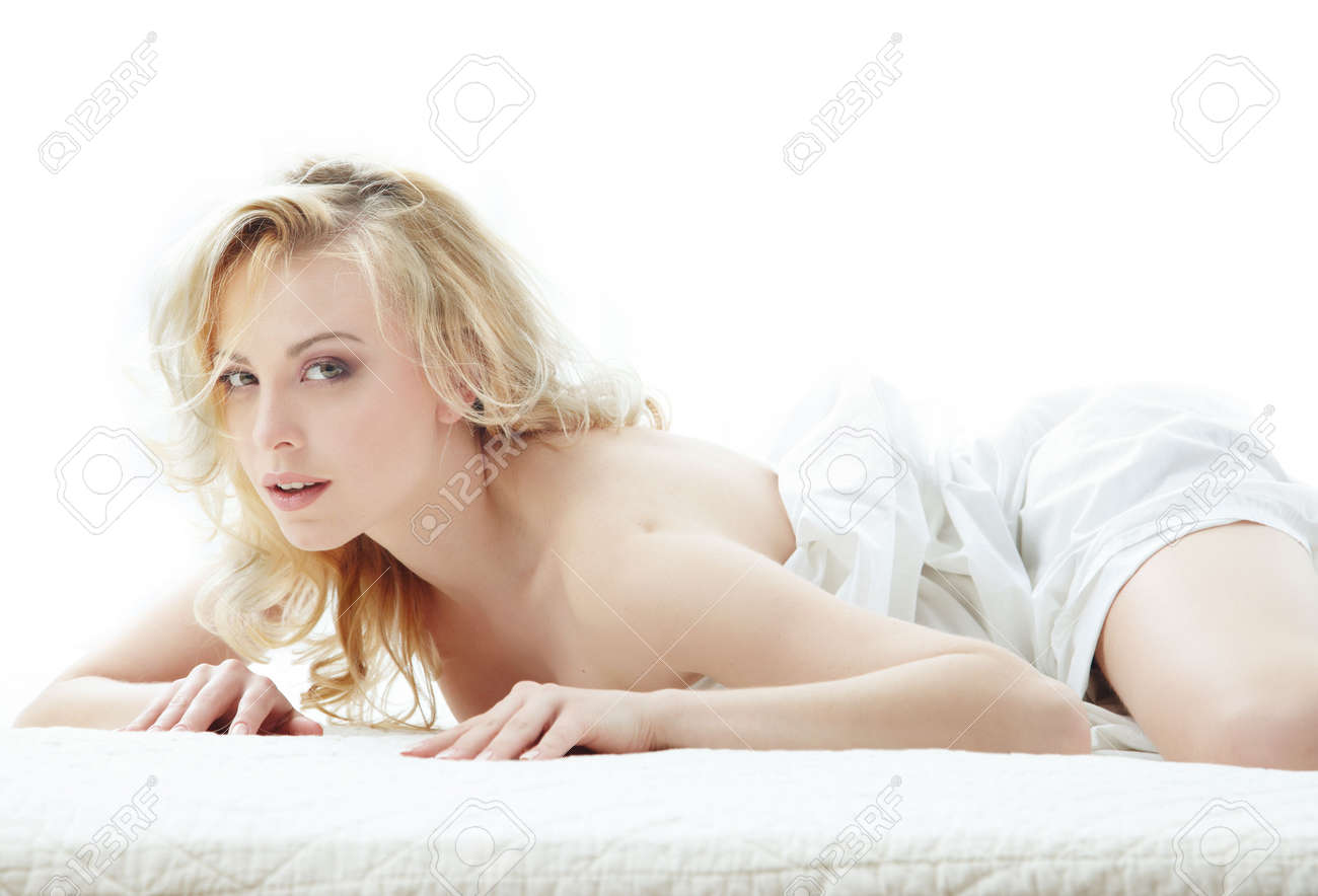 Sexy lady on the bed