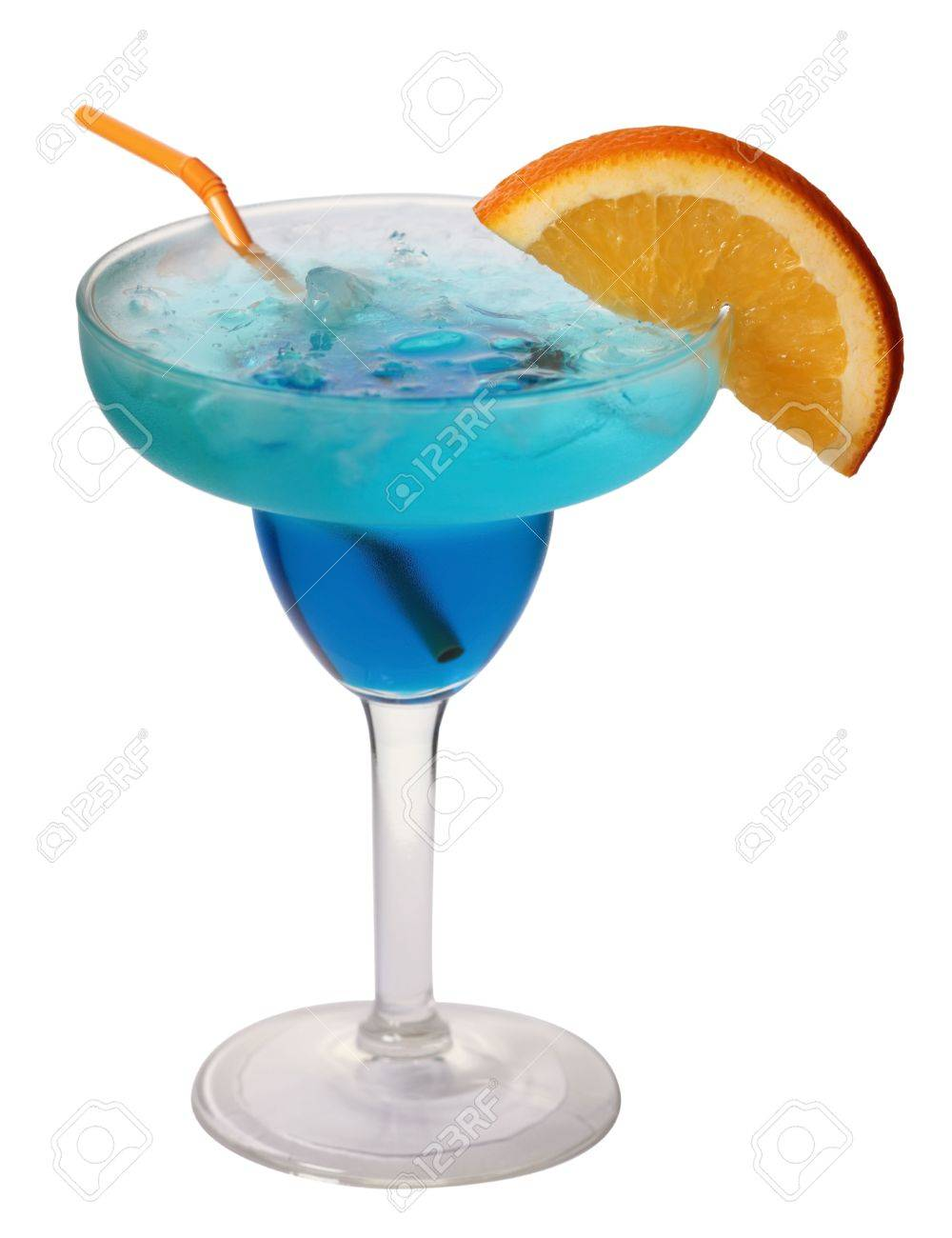Blue lagoon cocktail  Blue Lagoon Cocktail Isolated On White Background In Margarita ...