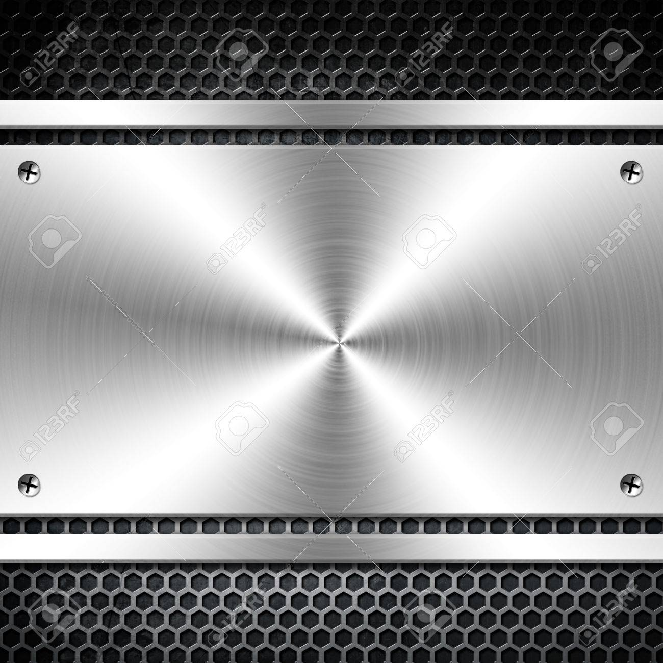 Metal template  With copy space Stock Photo - 13269161