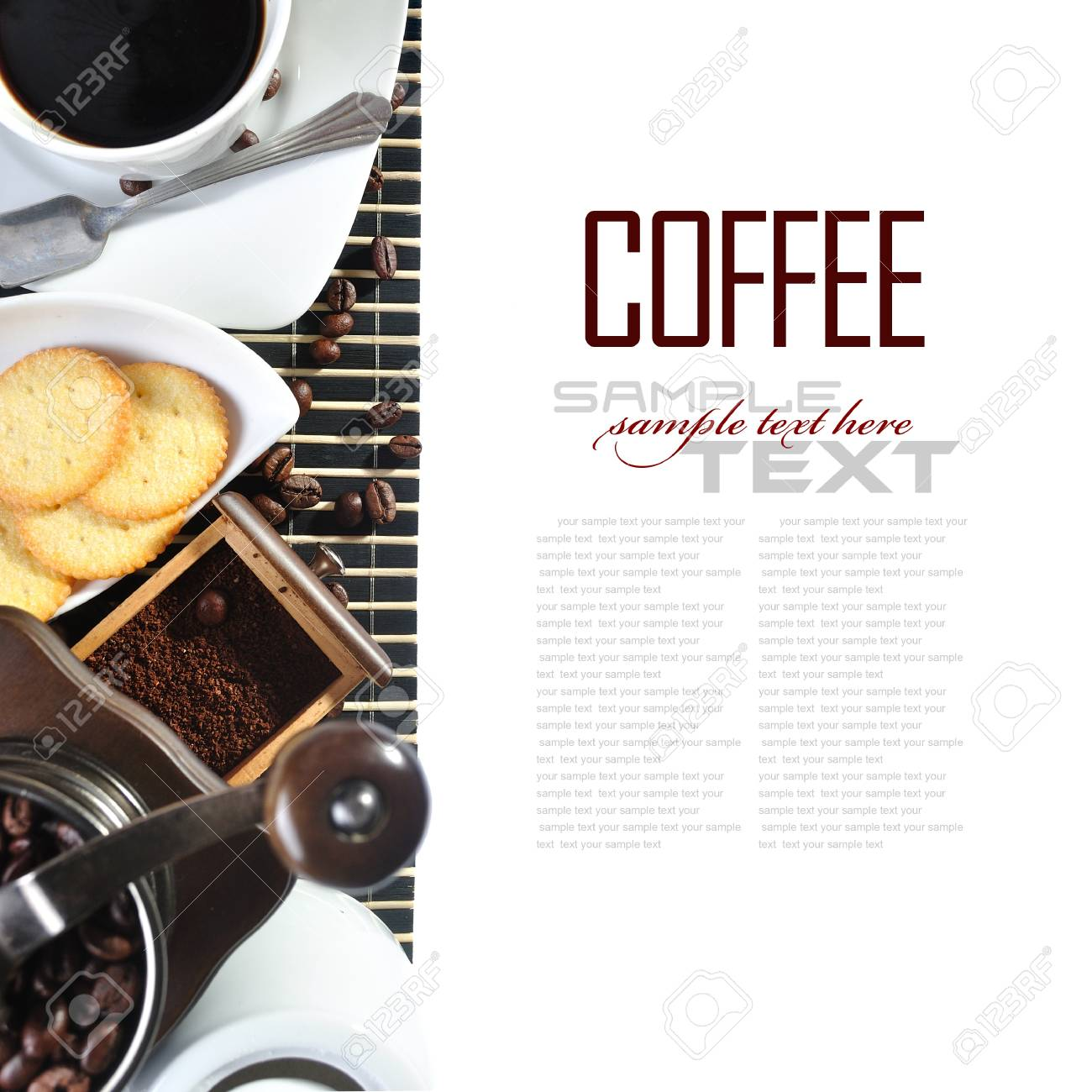 Coffee Break Menu With Coffee Ingredient Coffee Grinder Stock Photo Picture And Royalty Free Image Image 13906530