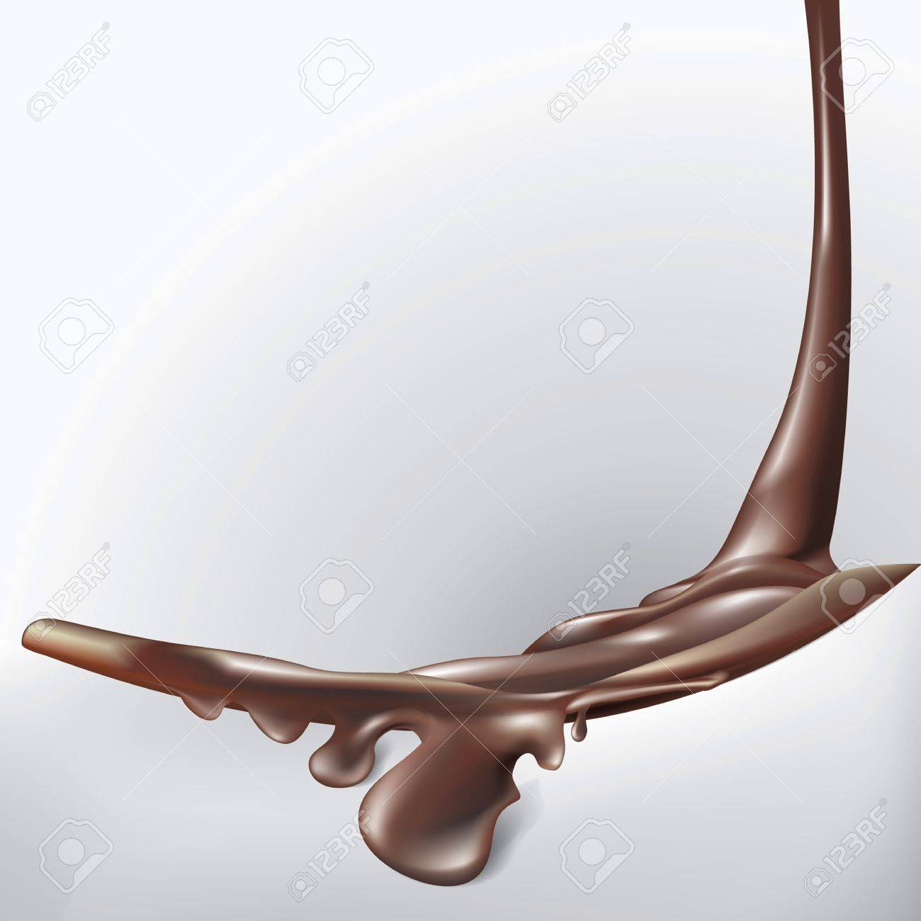 Chocolate background with melting Stock Vector - 16827511