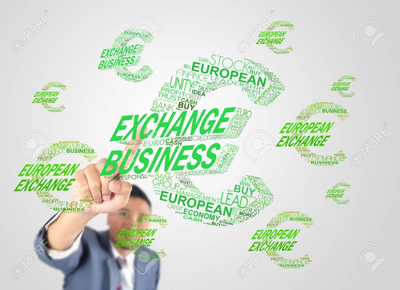 Business man designed euro money icon by crossword Stock Photo - 17846796