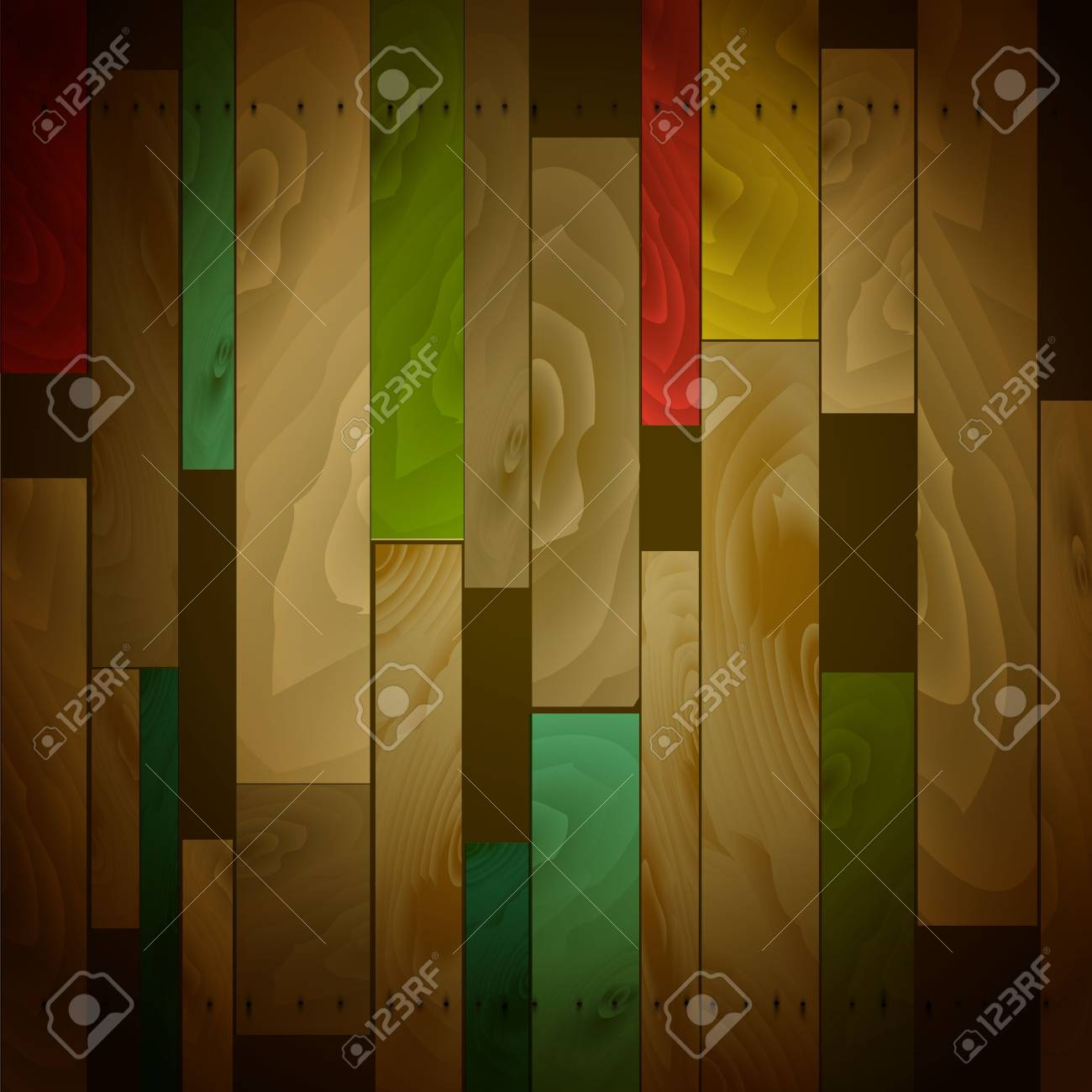 wood pattern with old color Stock Vector - 18045347