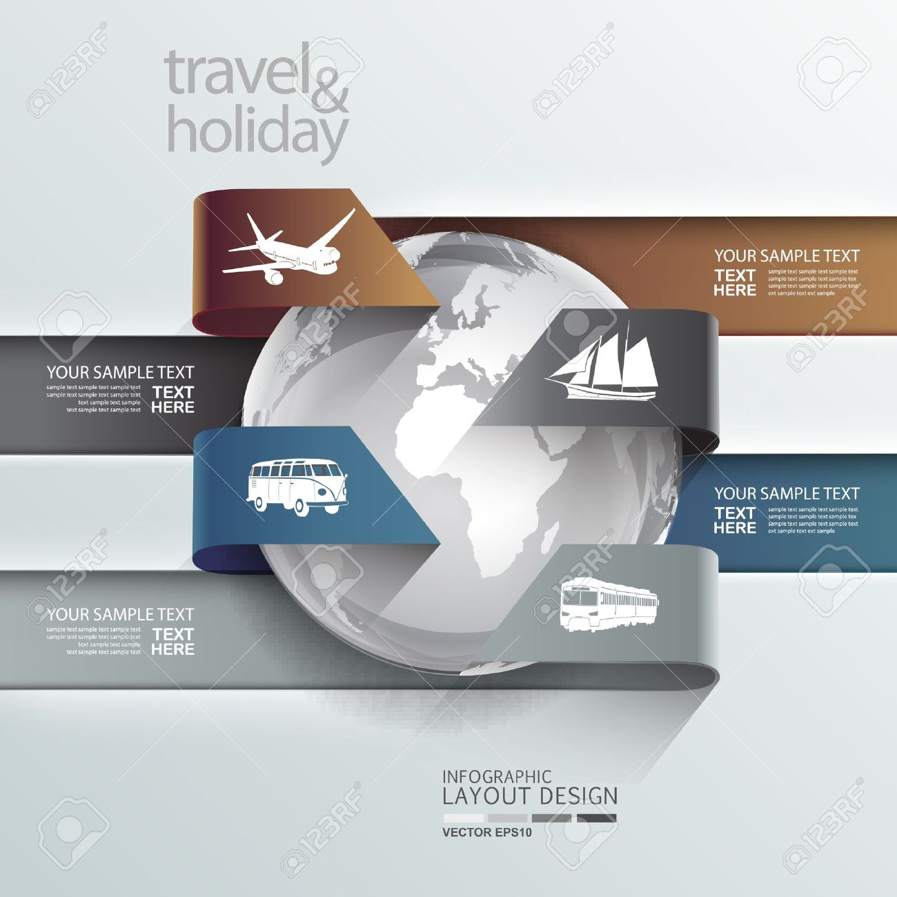 Abstract globe travel   holiday transportation element template Stock Vector - 21549648