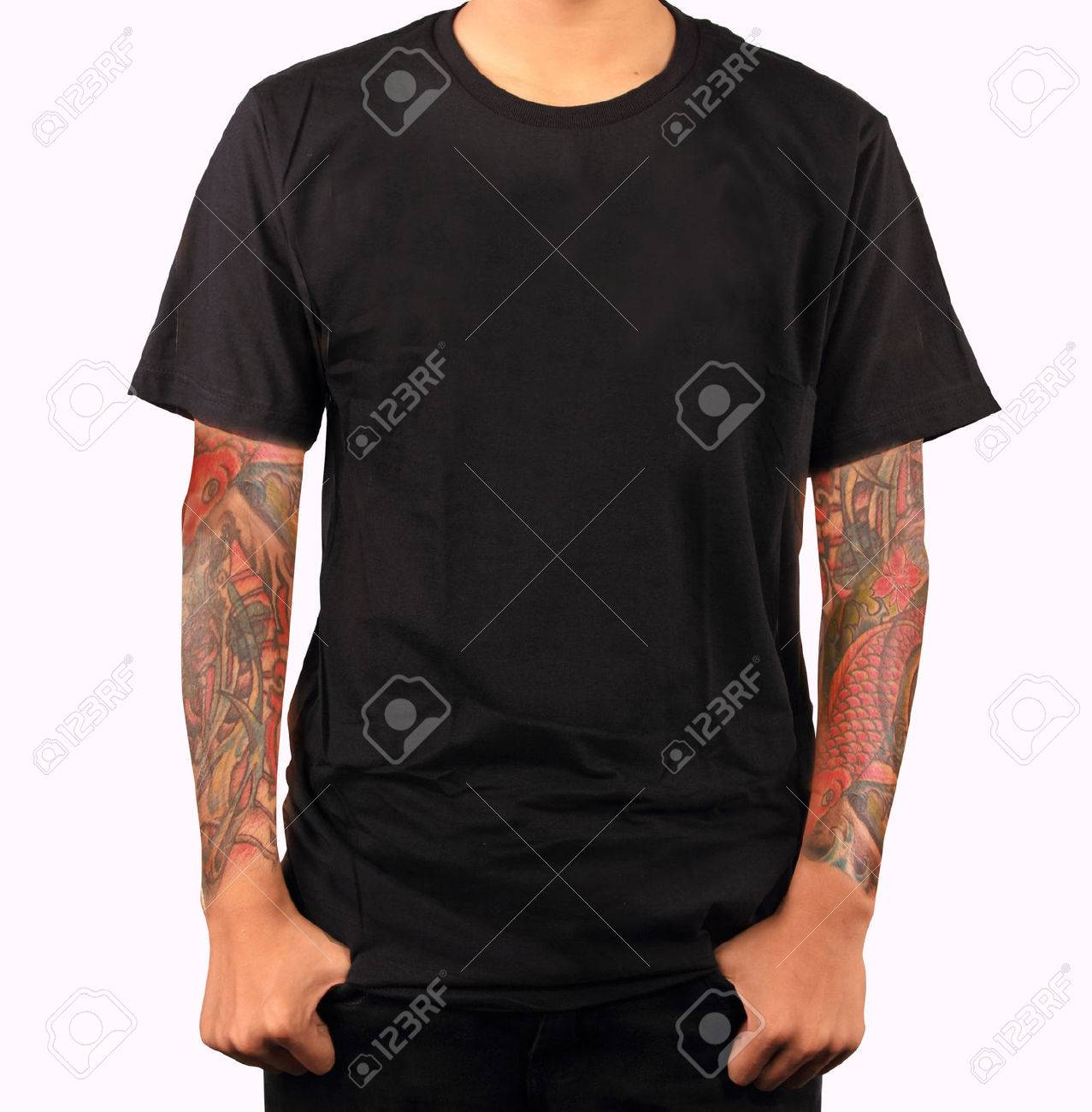 Black t shirt blank template - T Shirt Template Stock Photo 26749289