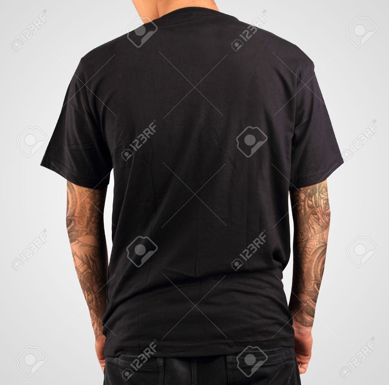 Black t shirt vector template - Black T Shirt Template Stock Photo Picture And Royalty Free Image