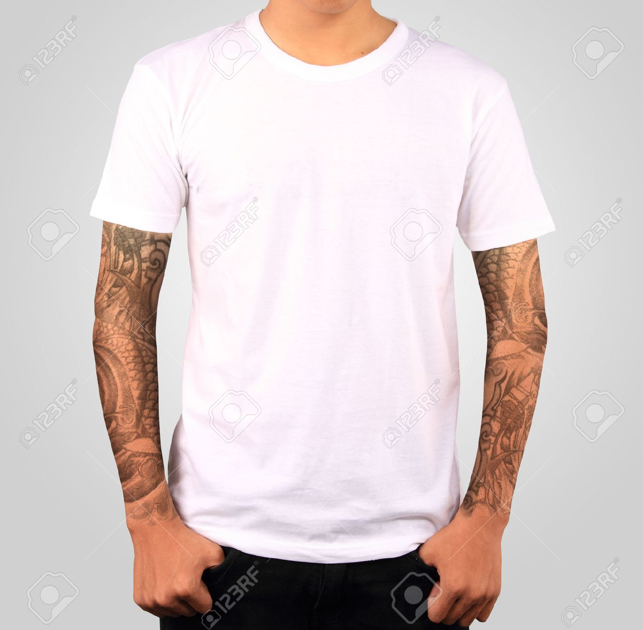 White T-shirt Template Stock Photo, Picture And Royalty Free Image ...