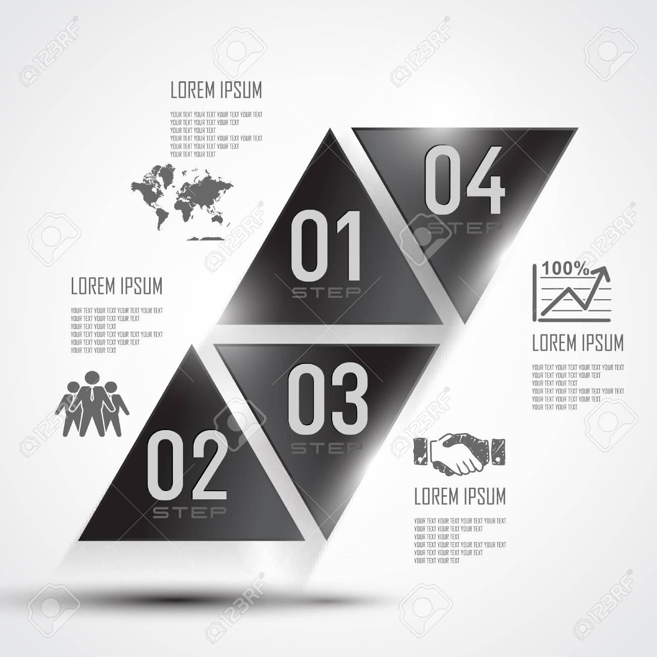 modern design for business 3d triangle info graphic vector