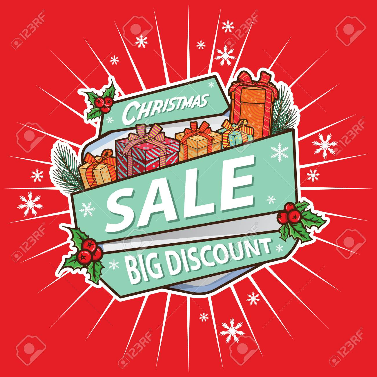c0809f05ef07 Merry Christmas sale banner template Stock Vector - 110932553