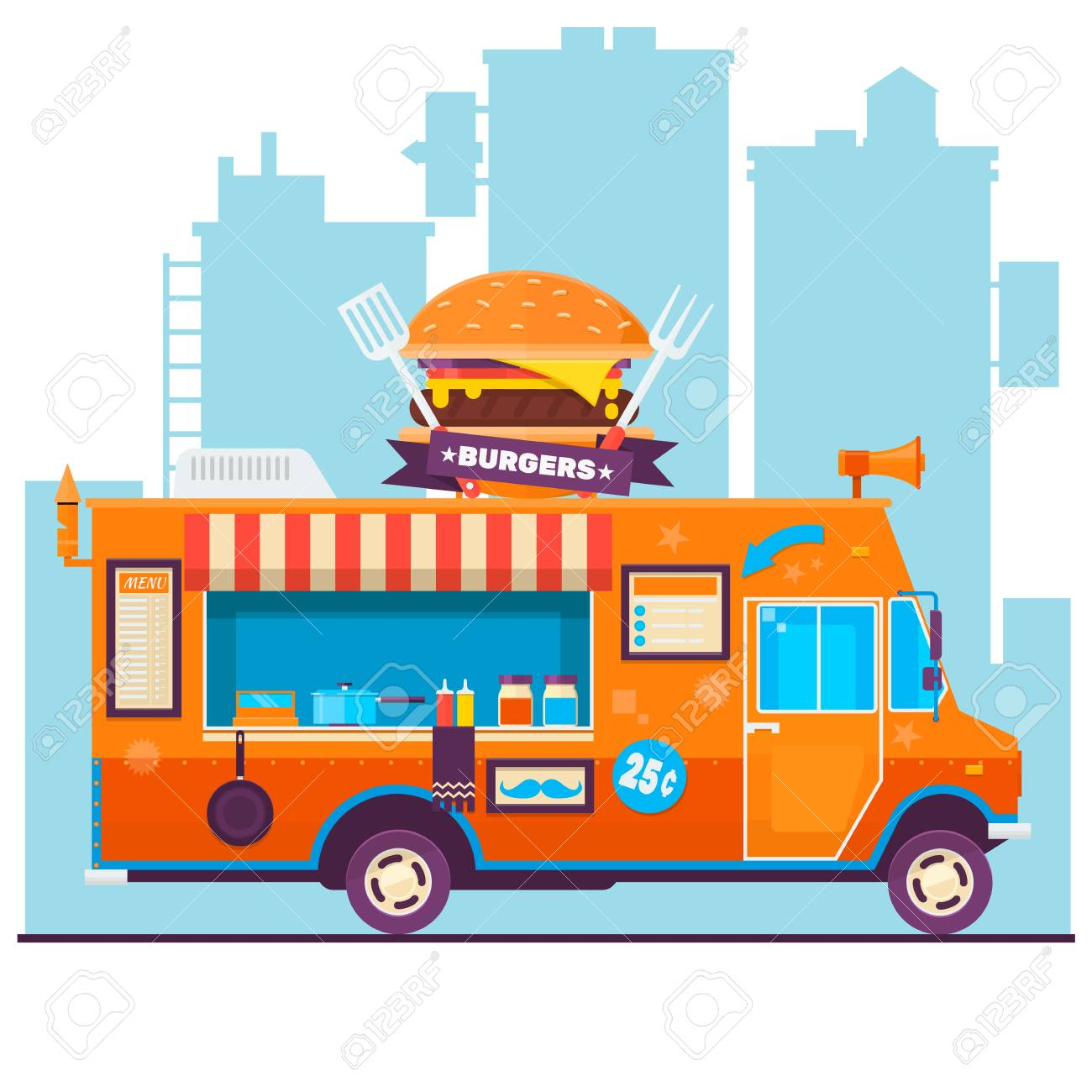 Food Truck Festival Menu Food Brochure, Street Food Template ...