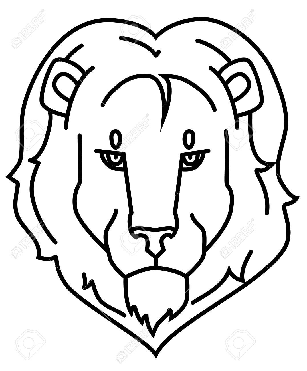 Logo Lion S Head Outlines Royalty Free Cliparts Vectors And Stock Illustration Image 110060329 Large png 2400px small png 300px. logo lion s head outlines