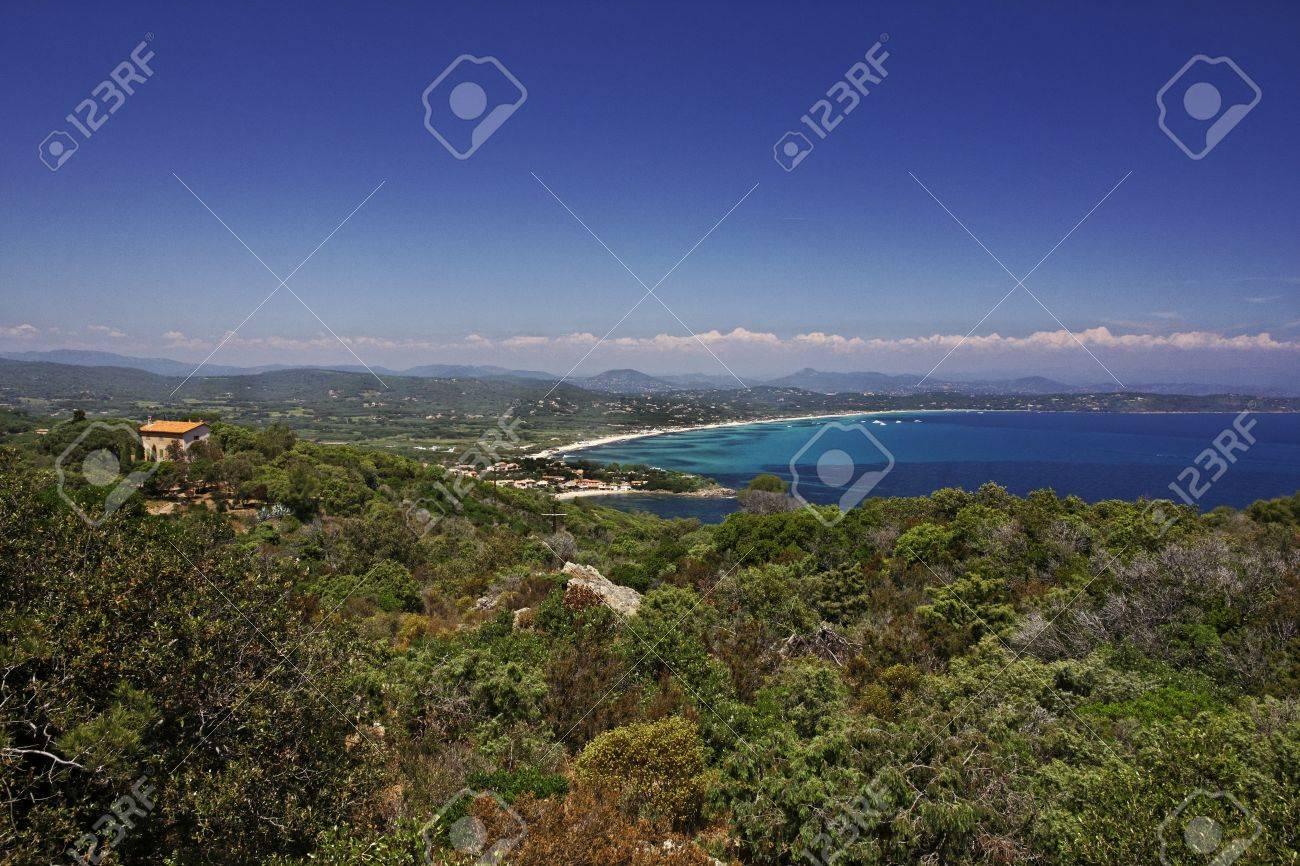 Cap Camarat Ramatuelle Near St Tropez With Pampelonne Beach Stock