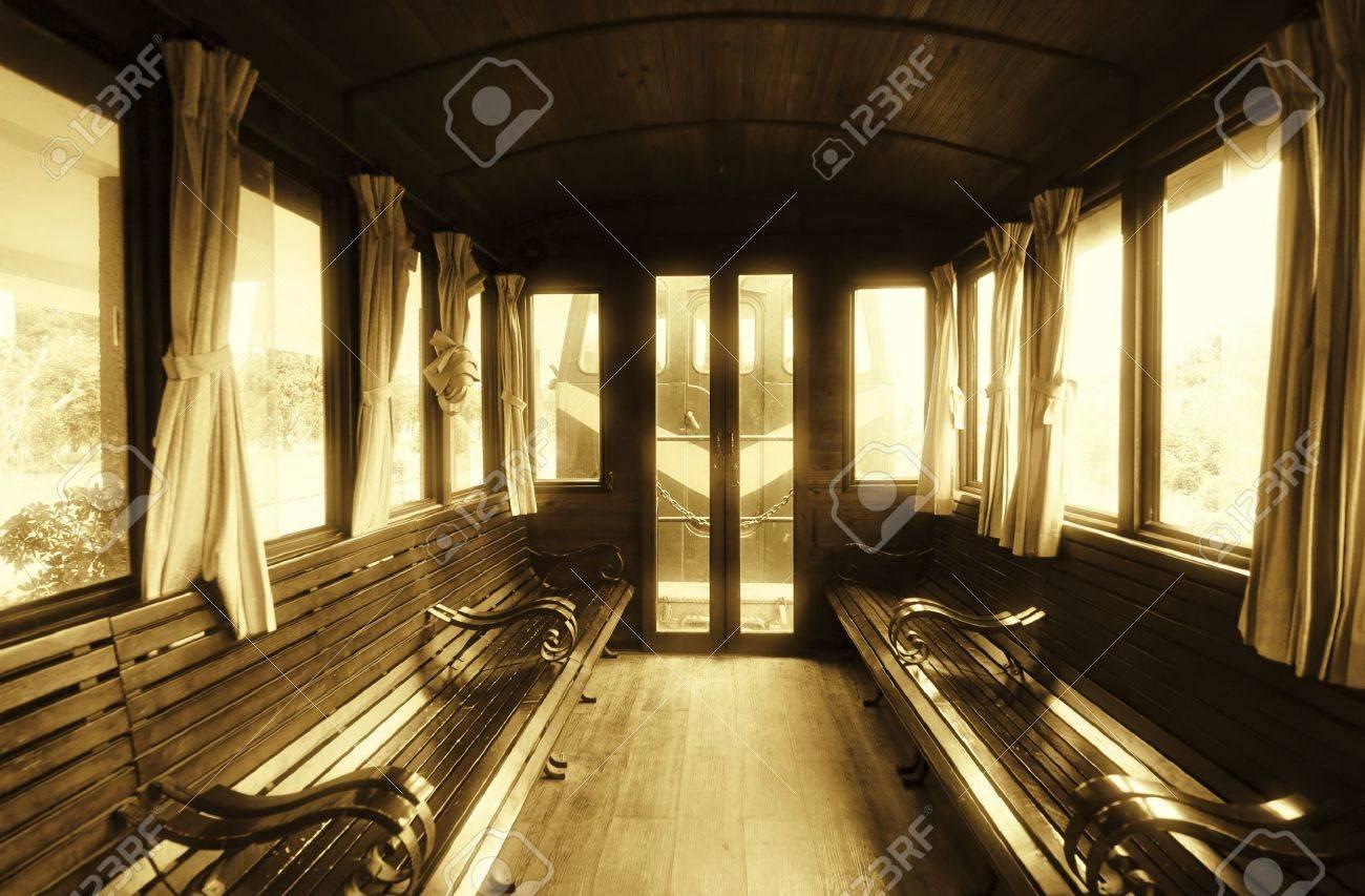 Vintage Train Salon Inside Stock Photo - 11934696