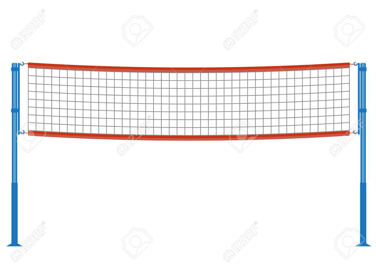 volleyball net illustration royalty free cliparts vectors and rh 123rf com Volleyball Net Background Volleyball Net Silhouette