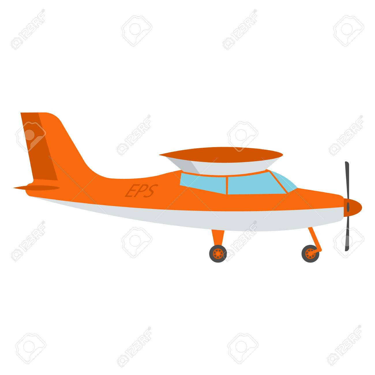 Ilustración Vectorial Avión Ligero. Los Aviones Ligeros De Color ...
